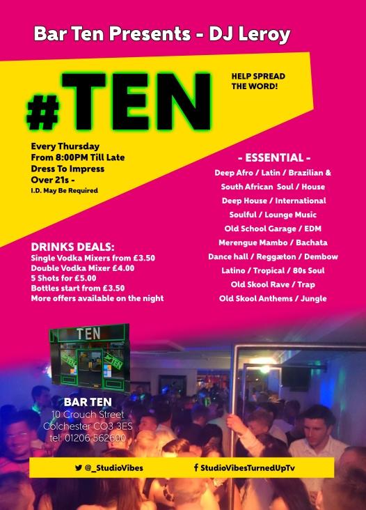 Bar Ten Flyer